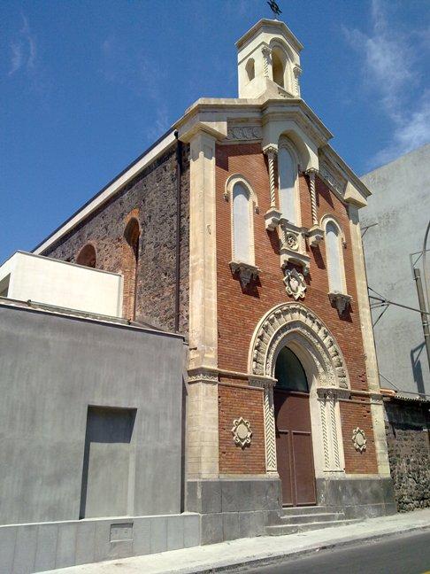 Facciata della Chiesa dei Santi Giorgio e Dionigi, Catania, restaurato dallo studio Ellenia+Tre