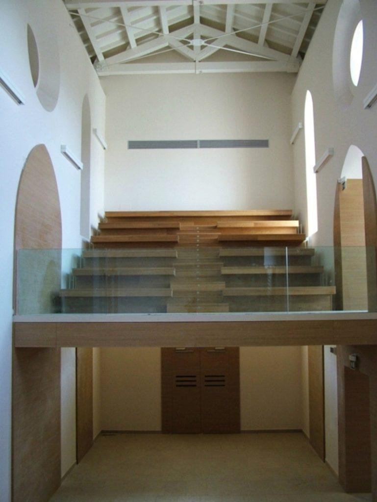Soppalco interno della Chiesa dei Santi Giorgio e Dionigi, Catania. Restaurato dallo studio Ellenia+Tre