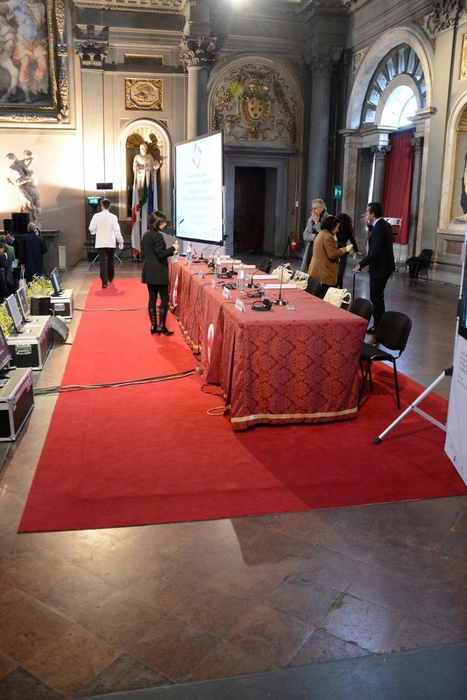 Sottomoquette riscaldante e amovibile di Thermal Technology nel Salone dei Cinquecento. Palazzo Vecchio, Firenze