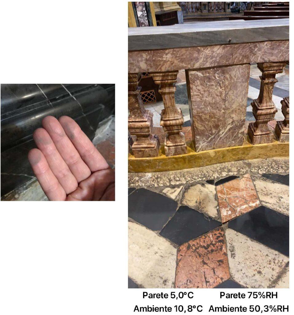 Esempio di dati ed immagini raccolte durante uno dei sopralluoghi, secondo il protocollo di Kronos, presso la SS. Trinità di Torino.